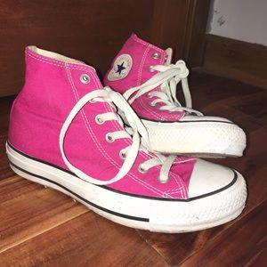 Hot Pink High-Top Converse